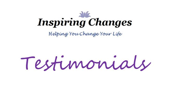 Testimonials for Hypnotherapy in Salisbury with Inspiring Changes logo